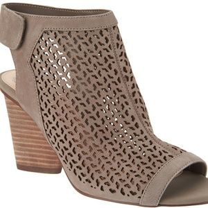 Vince Camuto Perforated Leather Peep-Toe Sandals